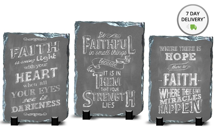 "6""x8"" Slates with Inspirational Sayings: 6""x8"" Slates with Inspirational Sayings. Multiple Designs Available. Free Returns."