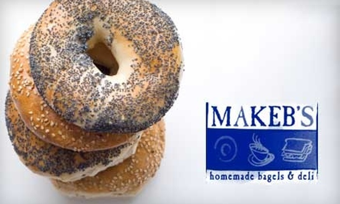 Makeb's - Multiple Locations: $5 for $10 Worth of Bagels and Deli Specialties at Makeb's. Choose Between Two Locations.