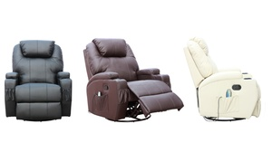 Leather Heated Massage Armchair