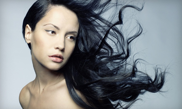 Centennial Hills Aveda Salon & Day Spa - Las Vegas: Haircut Package, Cut-and-Color Package, or Cut-and-Color Package with Full Highlights at Centennial Hills Aveda Salon & Day Spa (Up to 57% Off)