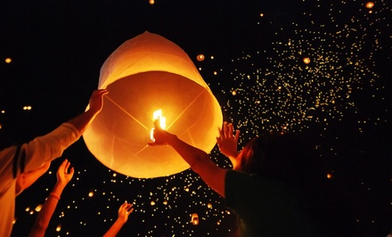 Set of Six Eco-Friendly Sky Lanterns