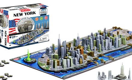 4D Cityscape Map Puzzle. Multiple Maps Available.
