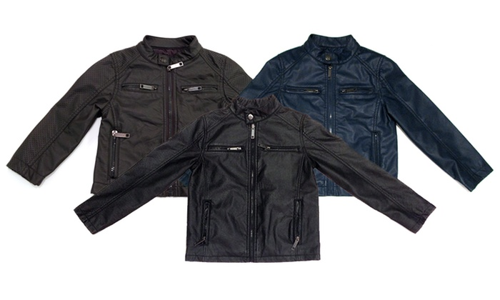 Urban Republic Boys' Faux-Leather Jackets: Urban Republic Boys' Perforated Nappa Lamb Faux-Leather Jackets. Multiple Options Available.
