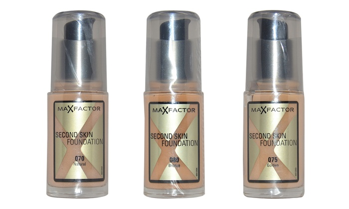 Max Factor for Women Second Skin Foundation; 30ml