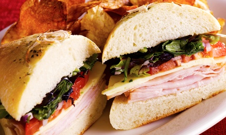 Two Groupons, Each Good for $10 Worth of Sandwiches, or Sandwich Platter at Abe's Subs and Wraps (Up to 45% Off)