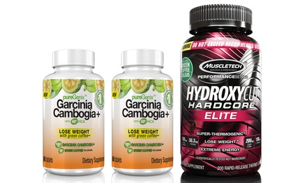 Hydroxycut Hardcore Elite Supplements with Two Bottles of Garcinia Cambogia