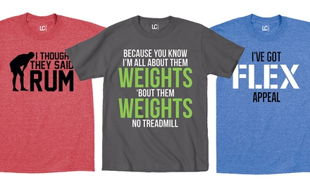 Men's Fitness-Themed T-Shirts