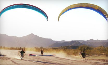 image for Paramotoring Discovery Flight with Calendar and T-Shirt from Airparamo in Maricopa (Up to 52% Off)