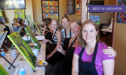 Painting Class with Chips and Bottled Water for One or Two at Cheers Pablo (Up to 48% Off)