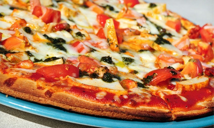 Malucci's Brick Oven Pizza - Broomall: Two Pizzas and 10 Wings, Five Half-Sized Sandwiches, or Five Pizzas at Malucci's Brick Oven Pizza (Up to 60% Off)