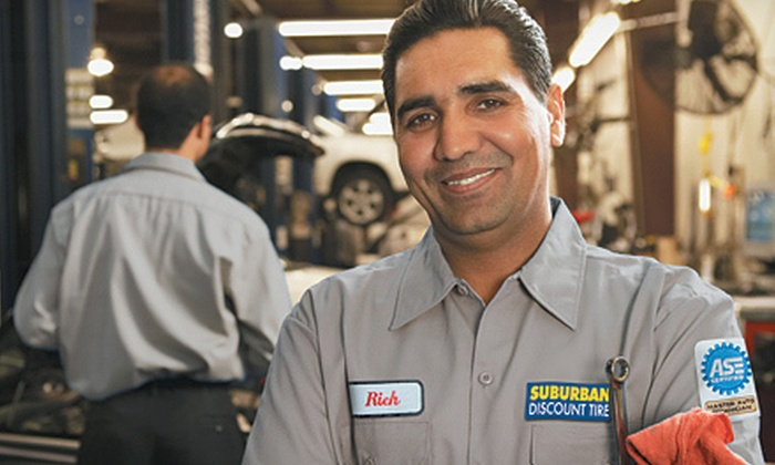 Suburban Discount Tire - Multiple Locations: One or Two Oil Changes with Tire Rotation and Inspection at Suburban Discount Tire (Up to 82% Off)