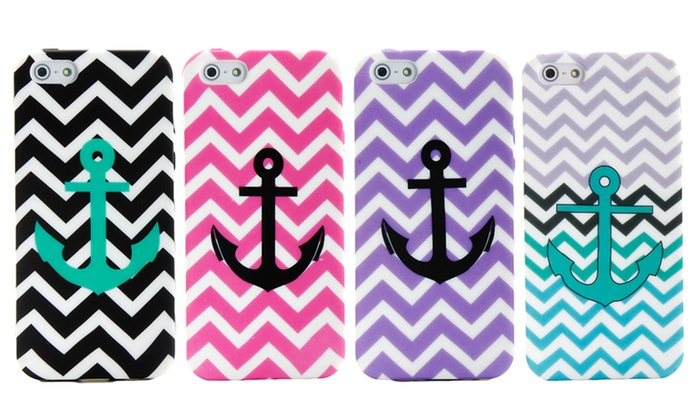 Nautical Anchor Cases for iPhone 4/4s and iPhone 5/5s: Nautical Anchor Case for iPhone 4/4s or iPhone 5/5s. Multiple Colors Available. Free Returns.