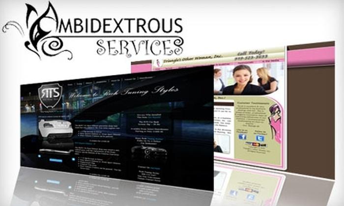 Ambidextrous Services - University: $475 for Custom Website Design from Ambidextrous Services ($999 Value)