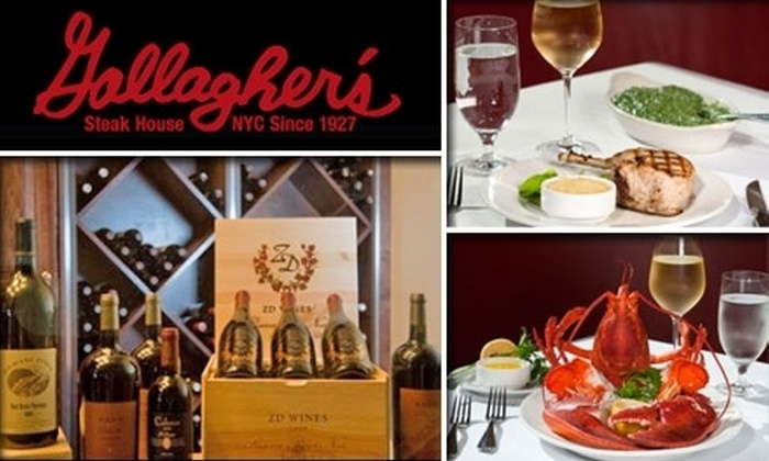 Gallagher's Steak House - Channel District: $35 for $75 Worth of Fine Meats & Drinks at Gallagher's