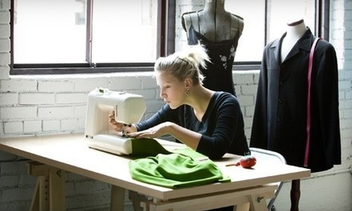 The Sewing Studio - Chelsea: Two-Hour Beginner Basics Sewing Class One or Two at The Sewing Studio (Up to 57% Off)