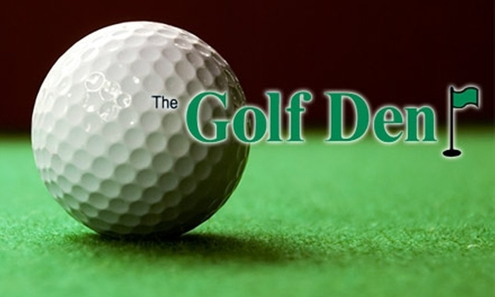 The Golf Den - Sherwood Park: $10 for One Hour in the Game Improvement Room at The Golf Den ($25 Value)