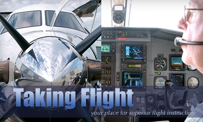Taking Flight - Multiple Locations: $120 for a One-Hour Discovery Flying Lesson with Taking Flight ($200 Value)