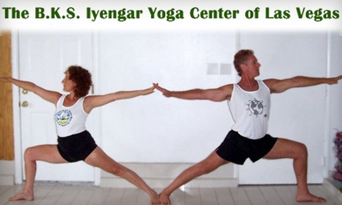 B.K.S. Iyengar Yoga Center of Las Vegas - Las Vegas: $25 for Three Yoga Classes at the B.K.S. Iyengar Yoga Center of Las Vegas ($60 Value)