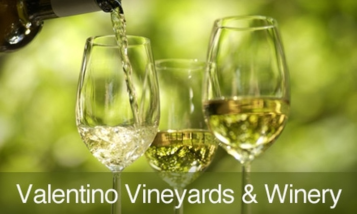 Valentino Vineyards & Winery - Long Grove: $19 for Wine Tasting, Vineyard Tour, and More at Valentino Vineyards & Winery in Long Grove ($48 Value)