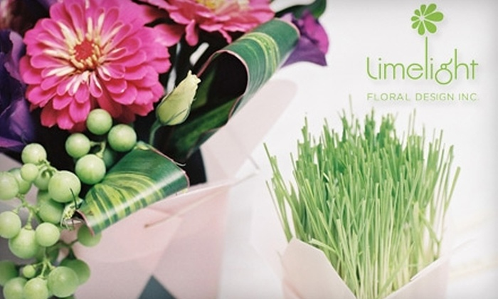 Limelight Floral Design Inc. - West Vancouver: $15 for $30 Worth of Floral Arrangements from Limelight Floral Design Inc.