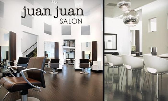 Juan Juan Salon - Multiple Locations: $30 for $65 Worth of Services at Juan Juan Salon. Choose from Two Locations.