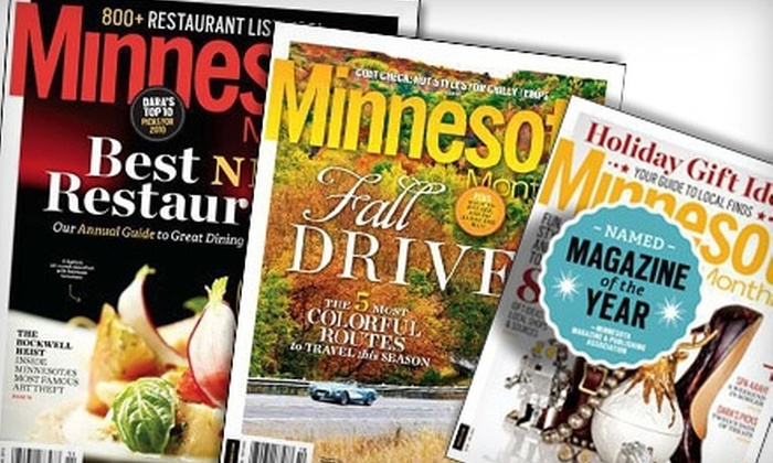 """""""Minnesota Monthly"""" - Summit Hill: $9 for a One-Year Subscription to """"Minnesota Monthly"""" Magazine ($19.95 Value)"""