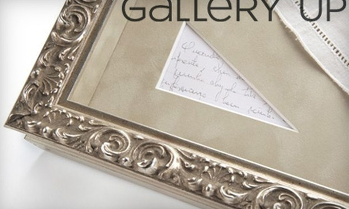 Gallery Up - Charlotte: $39 for $100 Worth of Custom Framing at Gallery Up