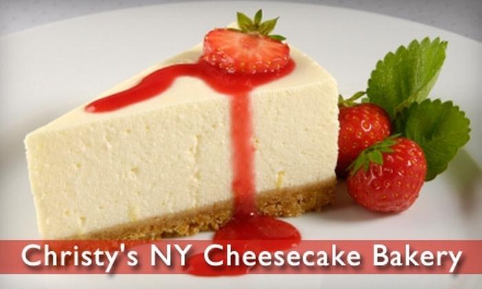 Christy's NY Cheesecake Bakery - Wellington Downs: $6 for a Seven-Inch Cheesecake from Christy's NY Cheesecake Bakery (Up to $13.95 Value)