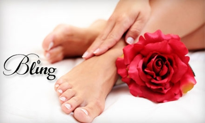 Bling Nails & Beauty Lounge - Downtown Vancouver: $26 for a Bling Mani-Pedi at Bling Nails & Beauty Lounge (Up to $52 Value)