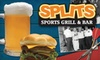 Splits Bar & Grllle - Rowlett: $19 for Two Hours of Billiards Play Plus a Meal for Two at Splits Bar & Grille (Up to $55 Value)