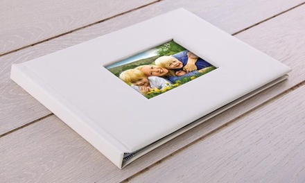 One or Two 20, 40 or 60Page A4 Leather Lorenzo Window Photobook from Printerpix