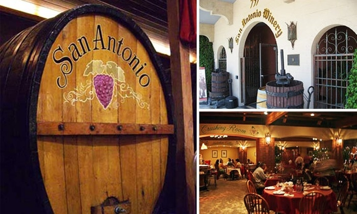 San Antonio Winery - Chinatown: $25 for Your Choice of Tastings at San Antonio Winery (Buy Here for 9/20, More Dates Below)