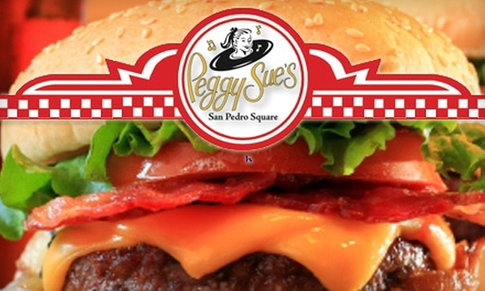 Peggy Sue's - Downtown San Jose: $5 for $10 Worth of 1950s Diner Fare and Drinks at Peggy Sue's