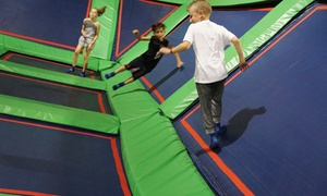 Jump Sessions With Socks And Themed Parties At Rebounderz Edison (up To 53% Off). Six Options Available.