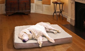 Memory-foam Pet Beds With Faux Sheepskin Or Terry Top