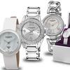 Akribos XXIV Women's Three-Piece Watch Gift Set with Swiss Quartz