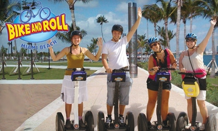 Bike and Roll Miami - Flamingo / Lummus: $24 for a South Pointe Segway Tour with Bike and Roll Miami (Up to $49 Value)