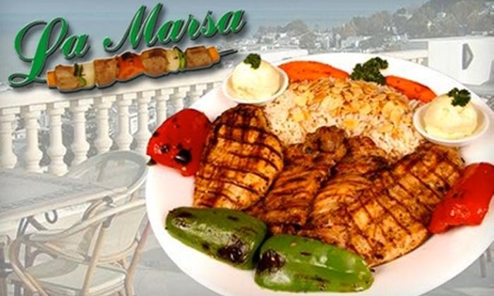 La Marsa - Multiple Locations: $15 for $30 Worth of Mediterranean Cuisine at La Marsa. Choose Between Two Locations.