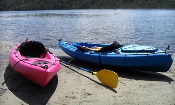 Gun Lake Rentals - Shelbyville: Eight-Hour Kayak or Canoe Rental at Gun Lake Rentals in Shelbyville. Three Options Available.