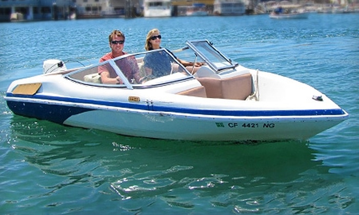 Marina Boat Rentals - Newport Beach: $29 for a One-Hour Marina Runabout Boat Rental at Marina Boat Rentals in Newport Beach ($69 Value)