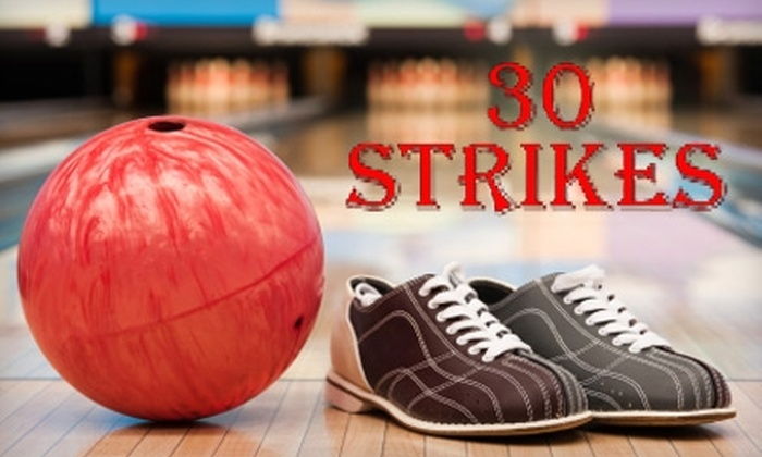 30 Strikes - Stratford: $5 for Two Games and One Pair of Rental Shoes at 30 Strikes in Stratford (Up to $10.48 Value)