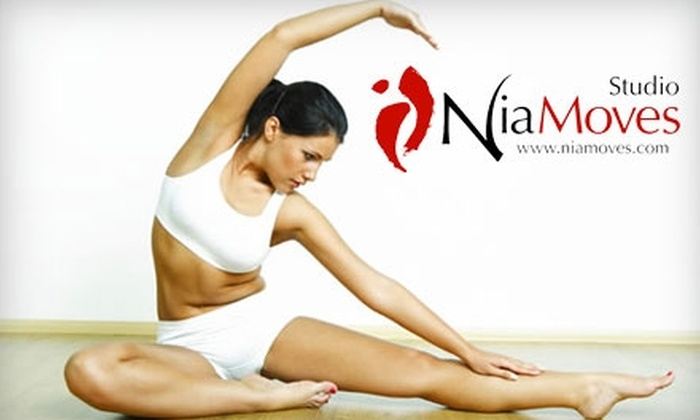 Studio NiaMoves - Multiple Locations: $20 for a Four-Class Pass at Studio NiaMoves (up to $60 Value)
