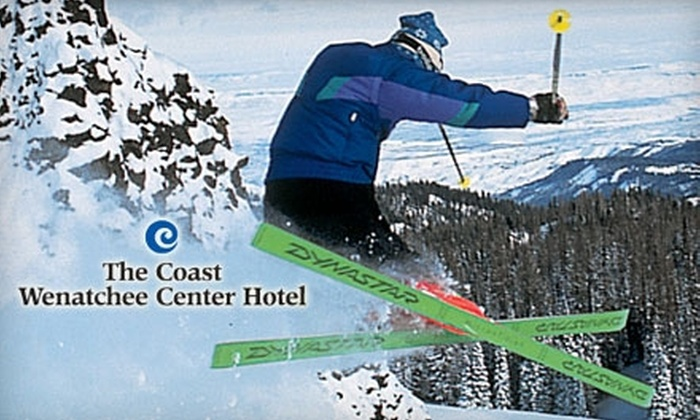 Coast Wenatchee Center Hotel - Multiple Locations: $170 for Two-Person Package with Skiing at Mission Ridge or Stevens Pass and Lodging at the Coast Wenatchee Center Hotel