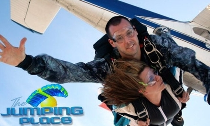 The Jumping Place - St. Marys: $115 for a Tandem Skydive at The Jumping Place