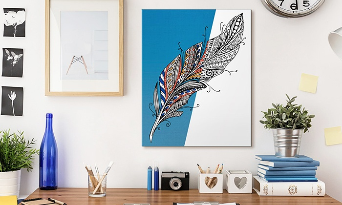 premium coloring canvas prints canvas on demand groupon