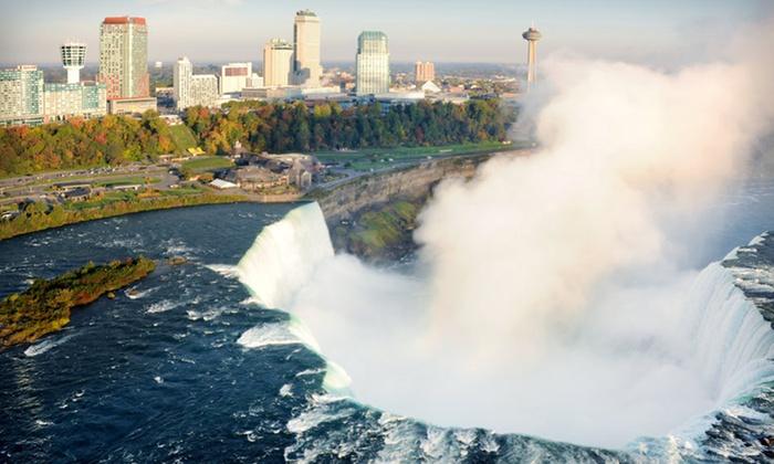 Marriott Gateway on the Falls - Niagara Falls, ON: One-Night Stay for Two in a Cityview or Fallsview Room Marriott Gateway on the Falls in Niagara Falls, Ontario