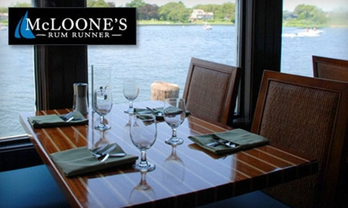 McLoone's Rum Runner - Central Jersey: $20 for $40 Worth of Surf 'n' Turf Cuisine and Drinks at McLoone's Rum Runner