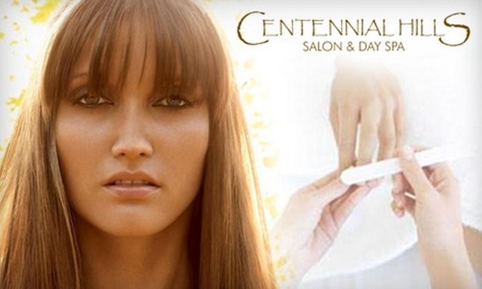 Centennial Hills Salon and Spa - Las Vegas: $49 for a Mani-Pedi and Customized Facial at Centennial Hills Salon & Day Spa ($115 Value)