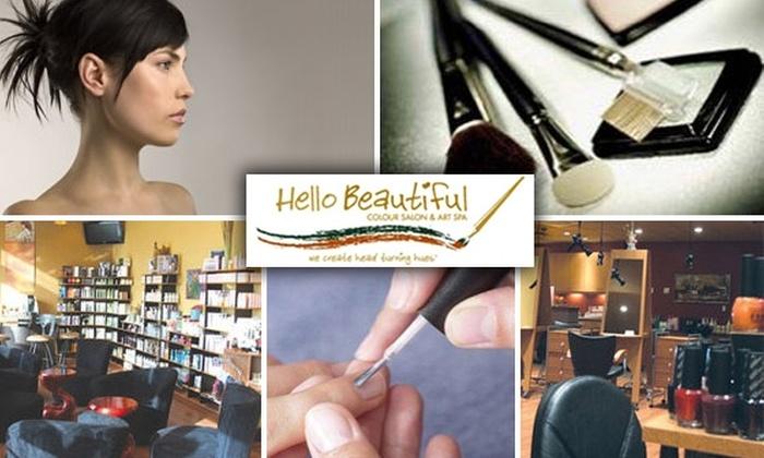 Hello Beautiful Colour Salon & Art Spa - Fairoaks Manhattan Manor: $30 for $60 Worth of Spa and Salon Services at Hello Beautiful