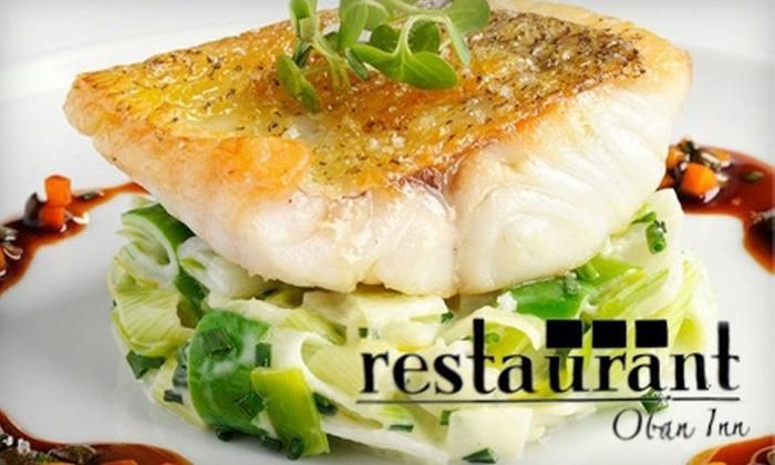 Restaurant Oban Inn - Niagara-on-the-Lake: $25 for $50 Worth of Fine Dining and Drinks at Restaurant Oban Inn